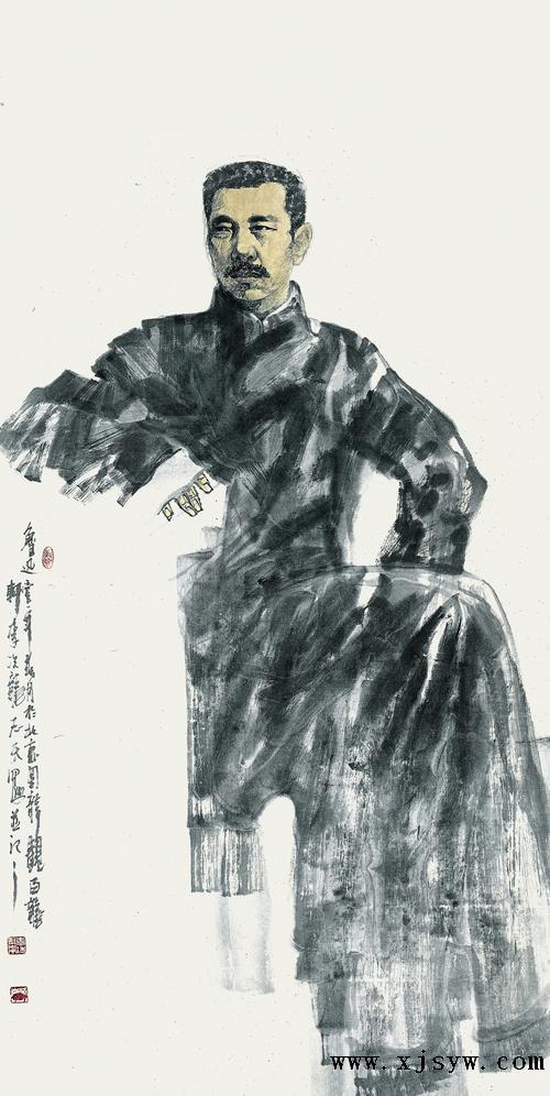 军旅画家李志天《红心翰墨颂英魂—百名英雄人物水墨画卷》图片