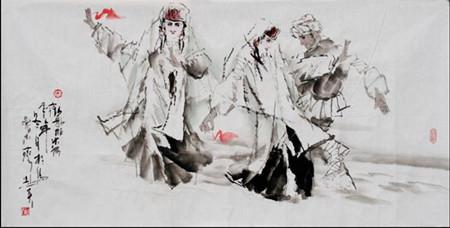 解读人物画家李志天的笔墨情怀图片
