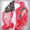 新疆原创设计 手工绘制 民族时尚 文化礼品 棉质披肩丝巾