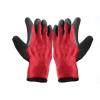 挂胶手套、十针细涤棉拉绒纱线天然乳胶皱纹手套