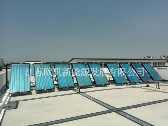 学校部队平板太阳能热水工程选江苏欧贝